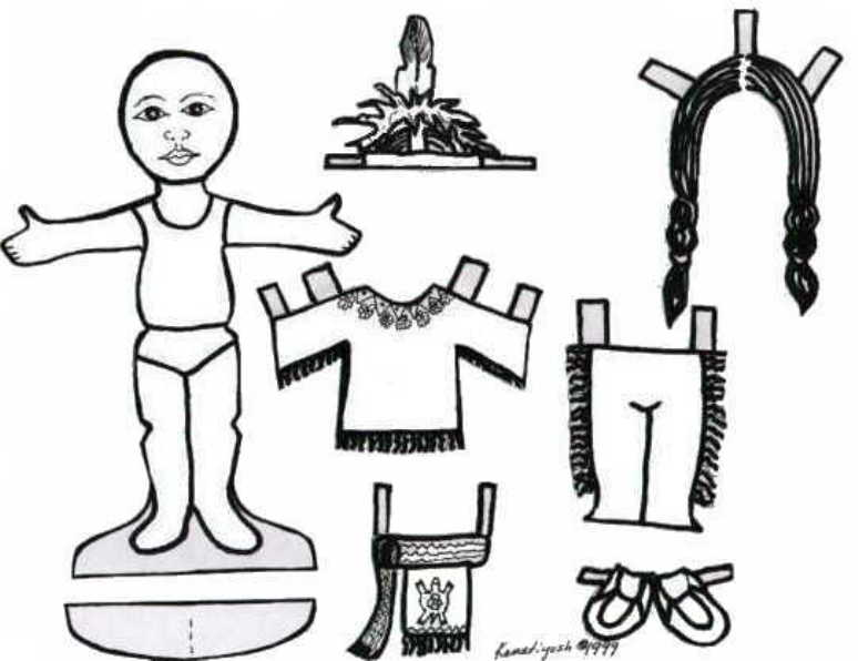 Iroquois Woman paperdoll and outfits. Also Iroquois Man . From