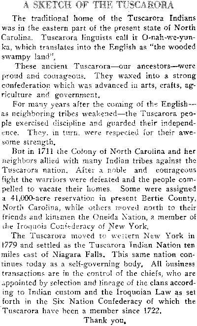 Facts for Kids: Tuscarora Indians (Tuscaroras)